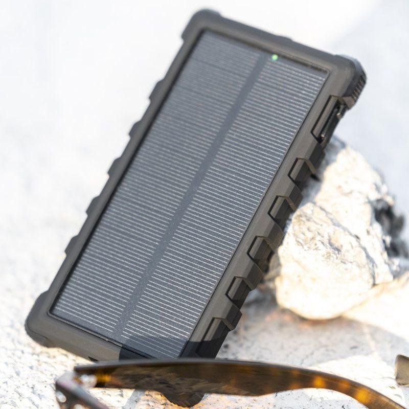 SunSaver 10K Solar Power Bank Charging in the Sun
