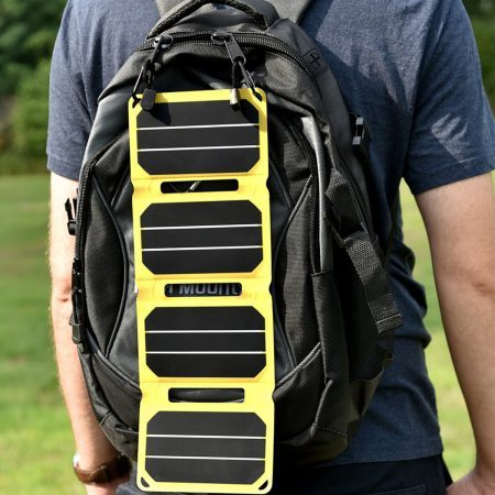 SunSaver Power-Flex Solar Charger on Backpack