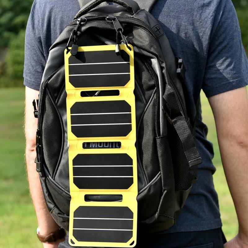 SunSaver Power-Flex Solar Charger on Backpack