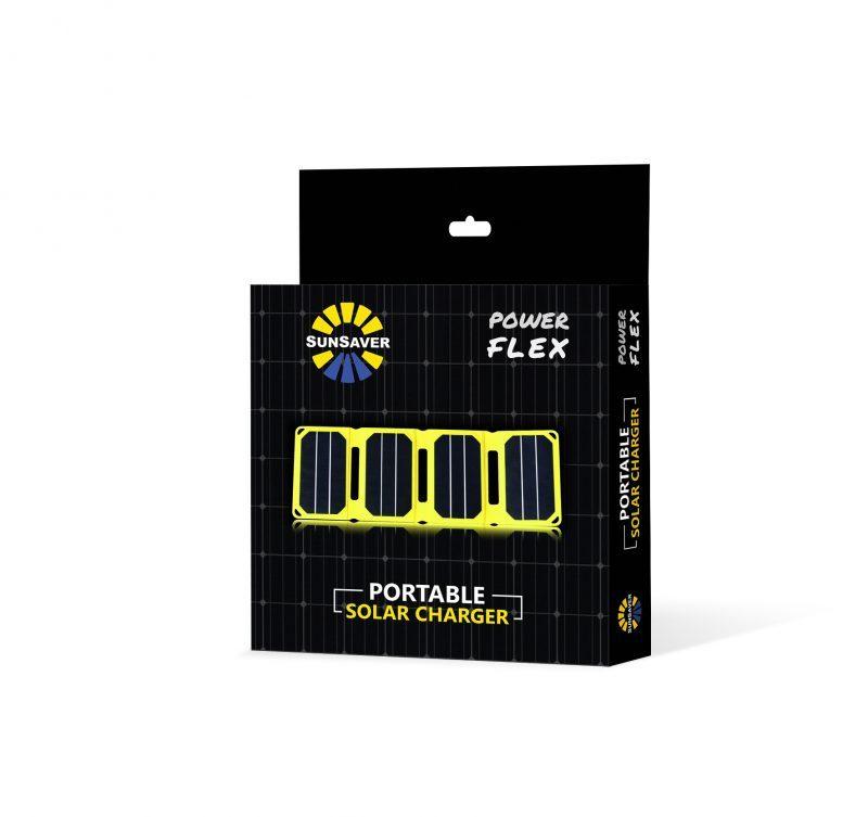 SunSaver Power-Flex Portable Solar Charger Packaging