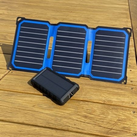 SunSaver 24K Solar Power Bank and Super-Flex 14-Watt Solar Panel Charger Bundle